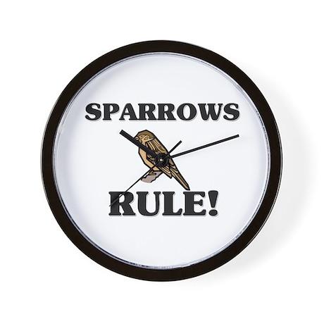 Sparrows Rule! Wall Clock
