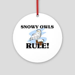 Snowy Owls Rule! Ornament (Round)