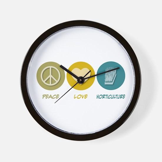Peace Love Horticulture Wall Clock