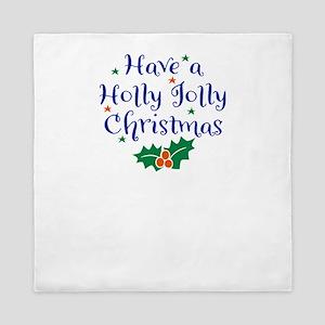 Holly Jolly Christmas Queen Duvet