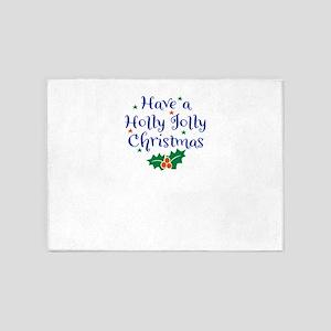 Holly Jolly Christmas 5'x7'Area Rug