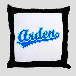 Retro Arden (Blue) Throw Pillow
