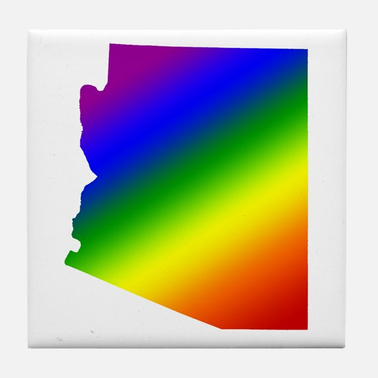 Arizona Gay Pride Tile Coaster