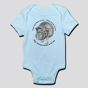 Pigs Look You Square in the Eye Infant Bodysuit