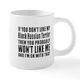 Black russian terrier Mega Mugs (20 Oz)