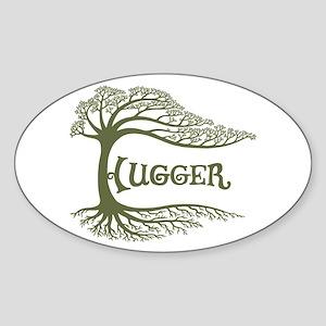 Hugger II Oval Sticker