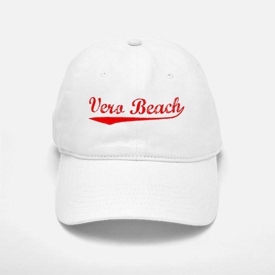 Vintage Vero Beach (Red) Baseball Baseball Cap