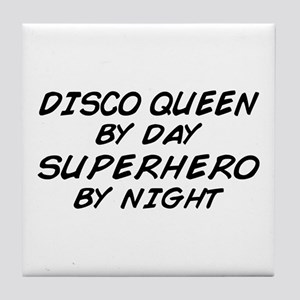 Disco Queen Superhero by Night Tile Coaster