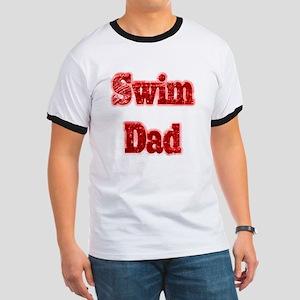 Swim Dad II Red Ringer T