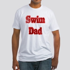 Swim Dad II Red Fitted T-Shirt