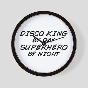 Disco King Superhero by Night Wall Clock