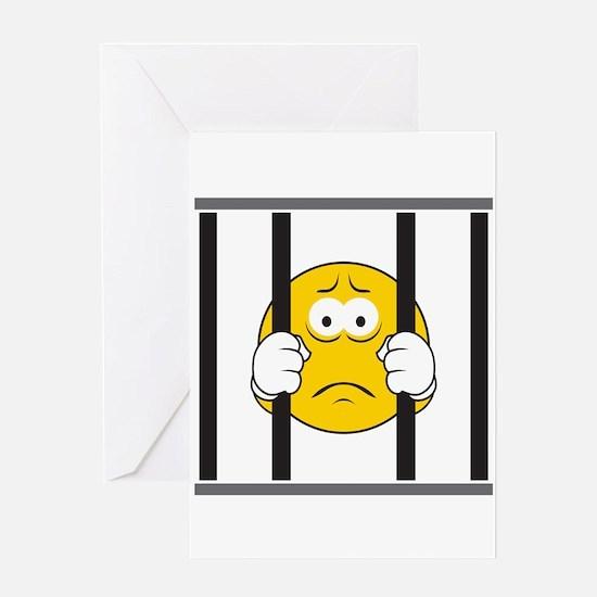 Prisoner Smiley Face Greeting Card