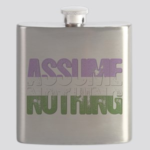 Assume Nothing Genderqueer Pride Flask