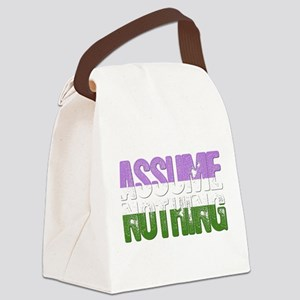 Assume Nothing Genderqueer Pride Canvas Lunch Bag