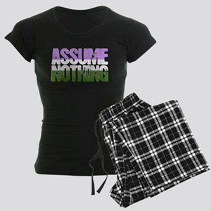 Assume Nothing Genderqueer P Women's Dark Pajamas