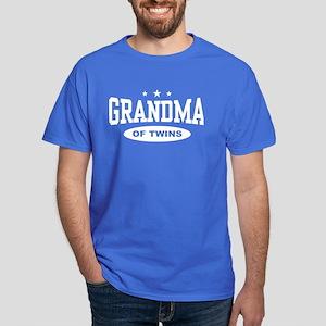 Grandma of Twins Dark T-Shirt
