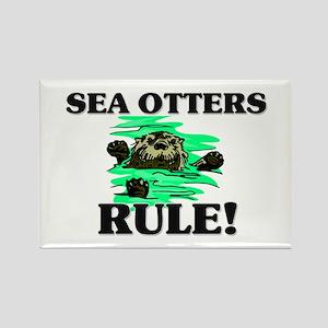 Sea Otters Rule! Rectangle Magnet