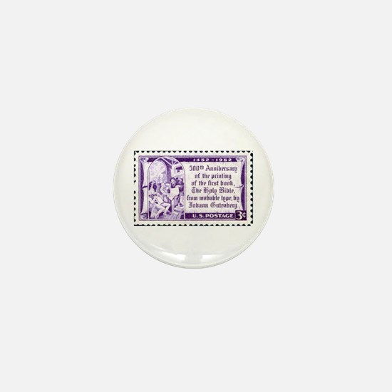 Religious Stamp Mini Button