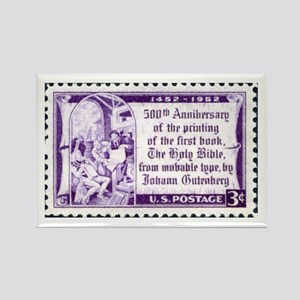 Religious Stamp Rectangle Magnet