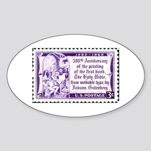 Religious Stamp Oval Sticker