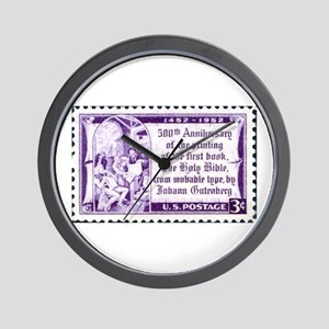 Religious Stamp Wall Clock