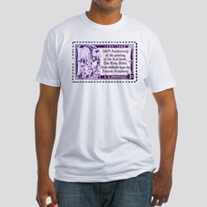 Religious Stamp Fitted T-Shirt