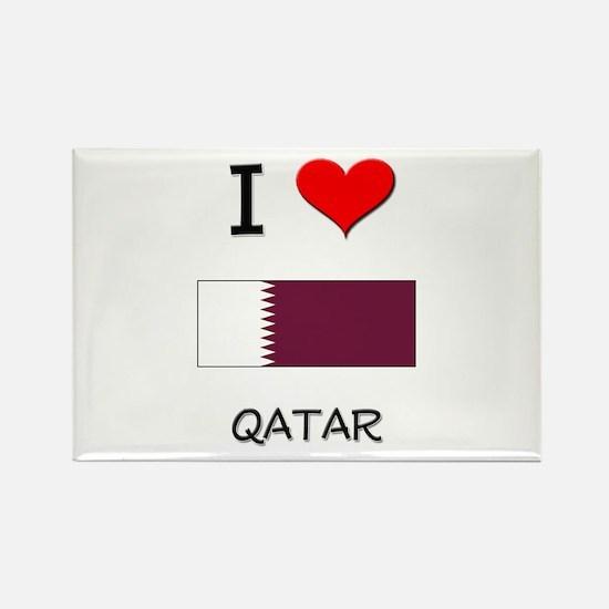 I Love Qatar Rectangle Magnet
