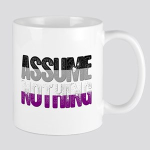Assume Nothing Asexual Pride Mug