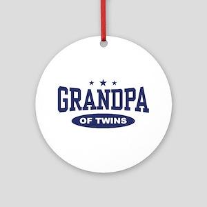Grandpa of Twins Ornament (Round)