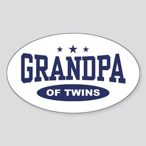 Grandpa of Twins Oval Sticker