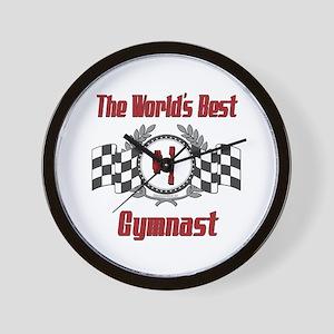 Racing Gymnast Wall Clock