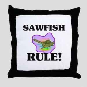 Sawfish Rule! Throw Pillow