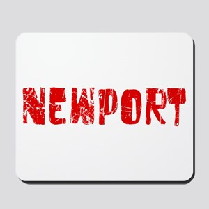 Newport Faded (Red) Mousepad