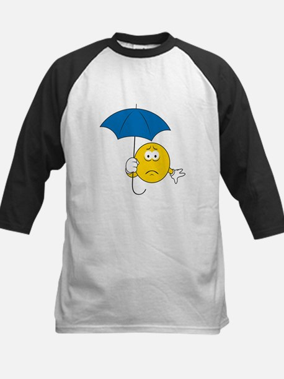 Umbrella Sad Smiley Face Kids Baseball Jersey