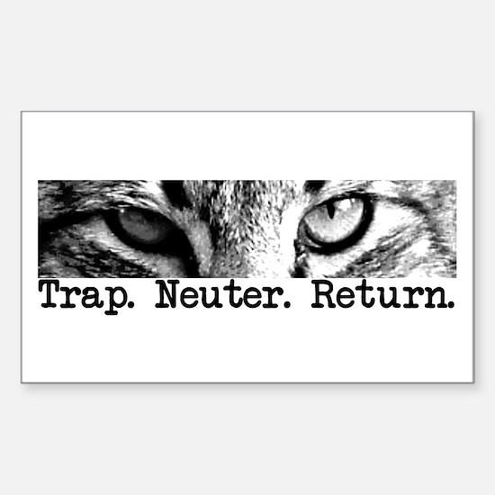 Trap. Neuter. Return. Rectangle Decal