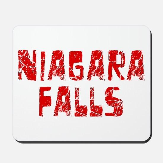 Niagara Falls Faded (Red) Mousepad