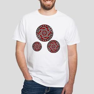 Red Machinery White T-Shirt