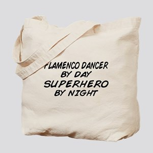 Flamenco Dancer Superhero by Night Tote Bag