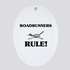 Roadrunners Rule! Oval Ornament