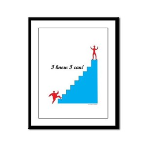 I can - weight loss Framed Panel Print
