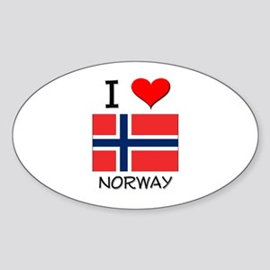 I Love Norway Oval Sticker