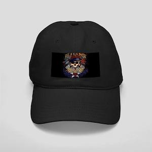 CafePrss SF Urbn Blu Wide Black Cap with Patch