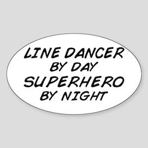Line Dancer Superhero by Night Oval Sticker