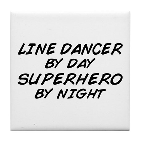 Line Dancer Superhero by Night Tile Coaster