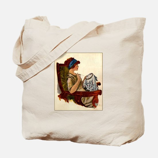 Flapper with Embroidery Hoop Tote Bag
