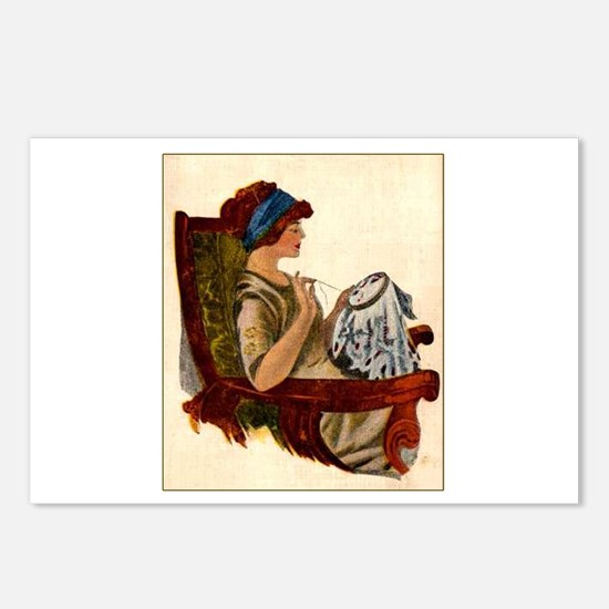Flapper with Embroidery Hoop Postcards (Package of