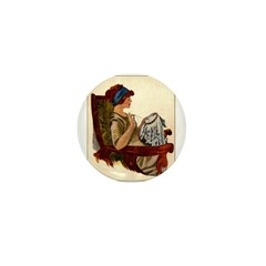 Flapper with Embroidery Hoop Mini Button (100 pack