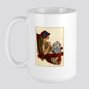Flapper with Embroidery Hoop Large Mug