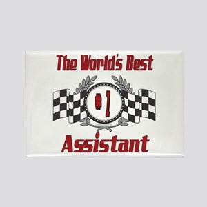 Racing Assistant Rectangle Magnet