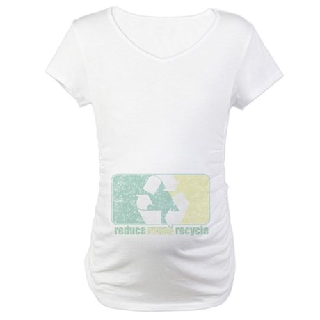 Reduse Reuse Recycle Logo Maternity T-Shirt
